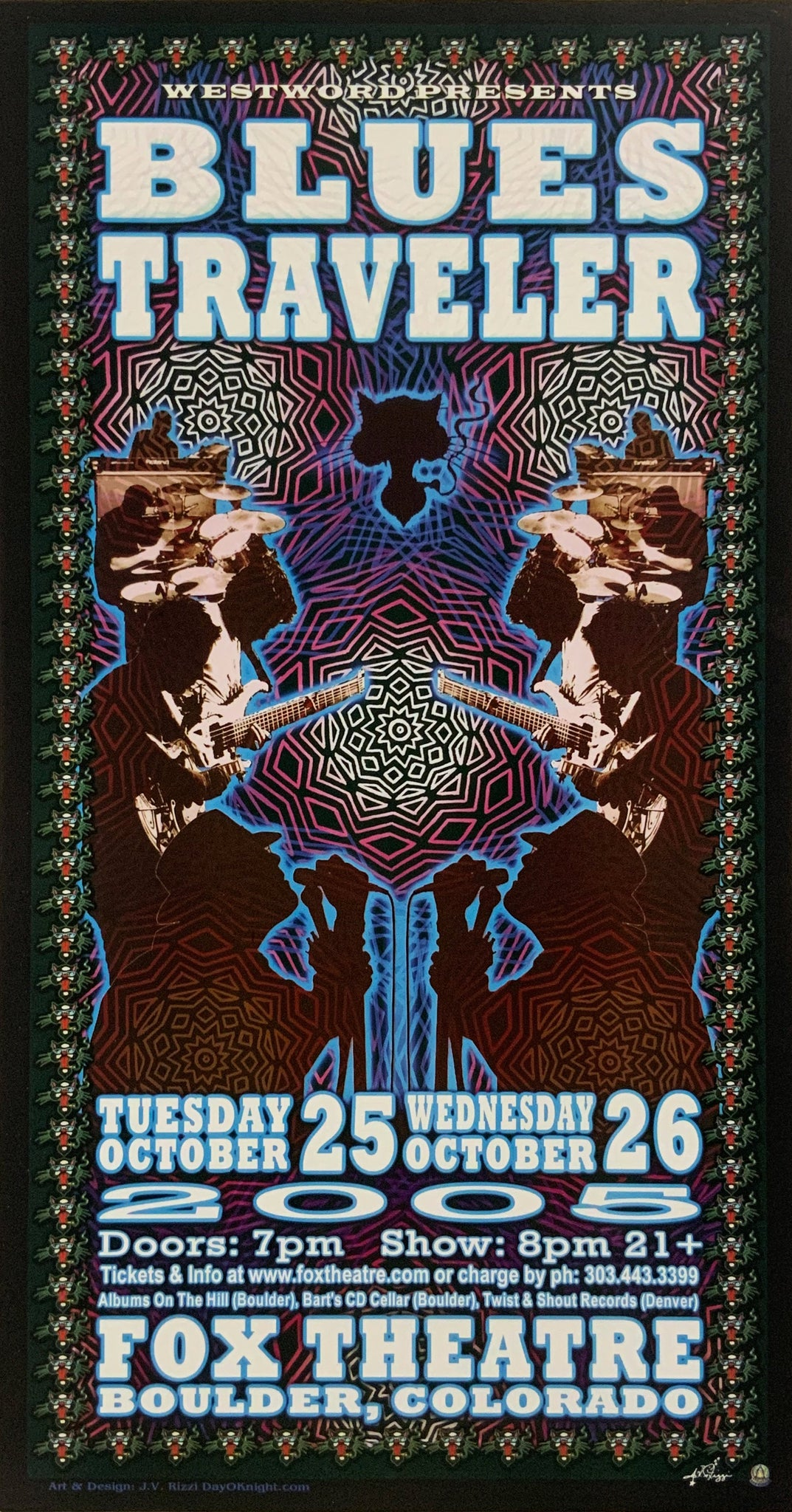 Blues Traveler 2005 Fox Theatre October 25th Poster