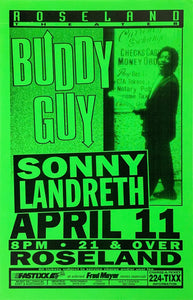 Buddy Guy Roseland Theater April 11th Poster