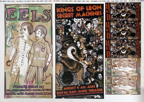 Eels Kings of Leon Uncut Poster Proof