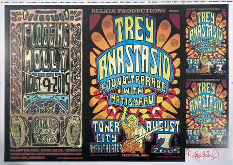 Flogging Molly Trey Anastasio Uncut Signed Proof Poster