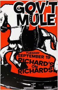 GOV'T Mule Richard's on Richards September 19th Poster