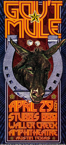 Gov't Mule 2004 Stubb's BBQ Waller Creek Amphitheatre April 29th Handbill Poster