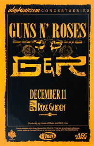 Guns N Roses Rose Garden December 11th Poster