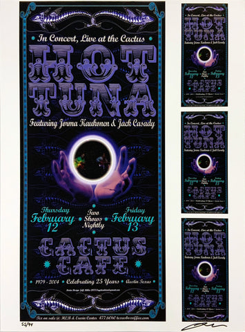 Hot Tuna 2004 Cactus Cafe February 12th Uncut Signed Poster Proof