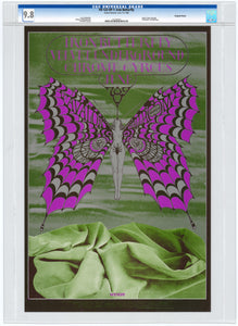 Iron Butterfly 1968 Avalon Ballroom June 7th Poster. CGC Grade 9.8