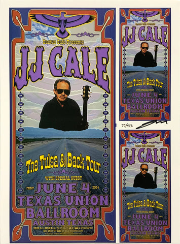 JJ Cale 2004 Texas Union Ballroom June 4th Uncut Signed Poster