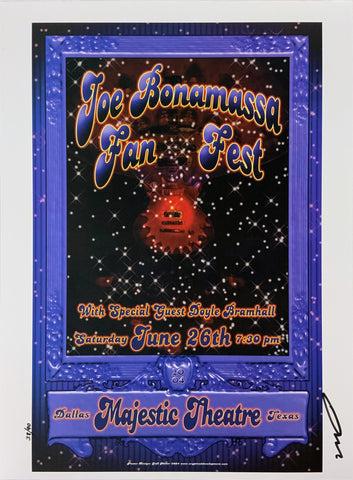Joe Bonamassa Fan Fest Majestic Theatre June 26th Uncut Signed Poster