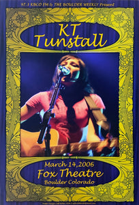 KT Tunstall 2006 Fox Theatre March 14th Poster