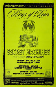 Kings Of Leon and Secret Machines Roseland Theater July 15th Poster