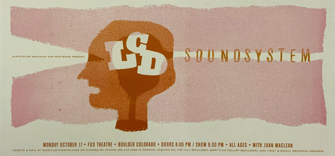 LCD Soundsystem Fox Theatre October 17th Handbill Poster
