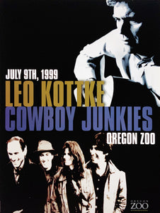 Leo Kottke Cowboy Junkies 1999 Oregon Zoo July 9th Poster