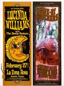 Lucinda Williams & Drive By Truckers Uncut Signed Poster