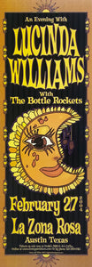 Lucinda Williams with The Bottle Rockets 2004 La Zona Rosa February 27th Poster