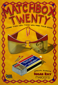 Matchbox Twenty 2003 Key Arena June 2nd Poster