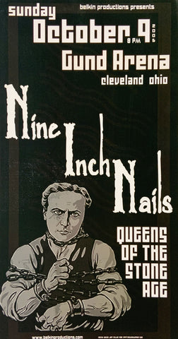 Nine Inch Nails 2006 Gund Arena October 9th Handbill Poster