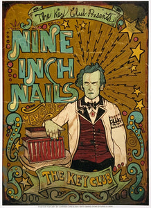 Nine Inch Nails The Key Club March 31st Poster