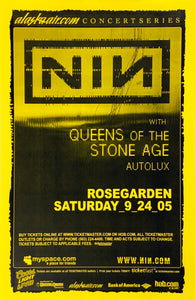 Nine Inch Nails 2005 Rosegarden September 24th Poster