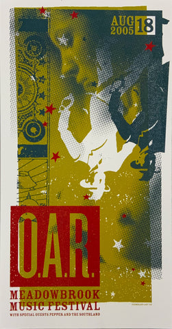 O.A.R. 2005 Meadowbrook August 18th Handbill Poster