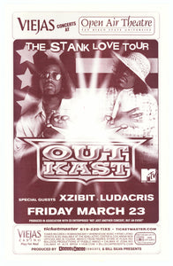 Outkast With Xzibit & Ludacris Open Air Theatre March 23rd Poster