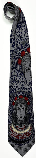 "BG-65 POSTER TIE : STEVE MILLER BLUES BAND : BLUE : MULBERRY NECKWEAR'S ""FILLMORE POSTER TIES"""