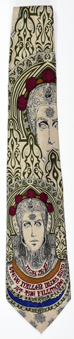 "BG-65 POSTER TIE : STEVE MILLER BLUES BAND : WHITE : MULBERRY NECKWEAR'S ""FILLMORE POSTER TIES"""