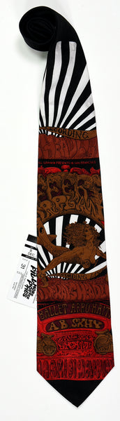 "BG-142 POSTER TIE : JEFFERSON AIRPLANE : FLYING LADY : MULBERRY NECKWEAR'S ""FILLMORE POSTER TIES"""