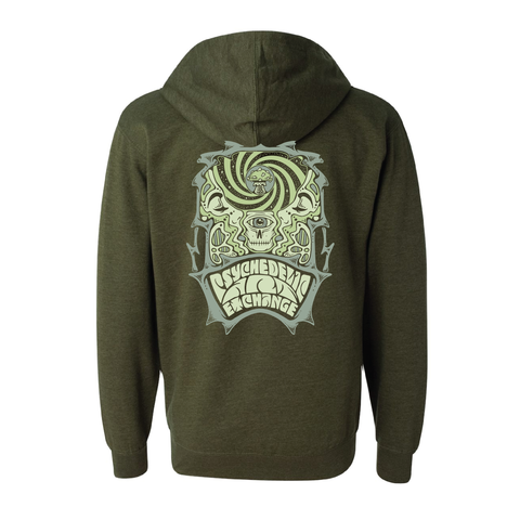 Official Psychedelic Art Exchange Army Heather Hoodie