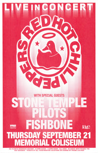 Red Hot Chili Peppers with Stone Temple Pilots Memorial Coliseum September 21st Original Poster