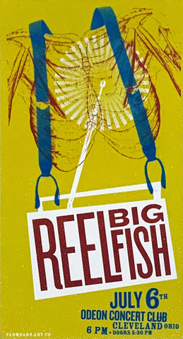 Reel Big Fish Odeon Concert Club July 6th Handbill Poster