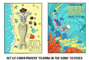 "SET OF BOTH OWEN MURPHY DEAD & COMPANY ""PLAYING IN THE SAND"" 2020 POSTERS"