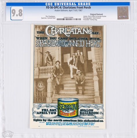 FD-56 : OPC-A : CGC 9.8 : CHARLATANS FRONT PORCH : THE CHARLATANS : AVALON BALLROOM : 1967
