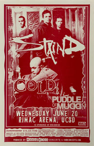 Staind With Cold & Puddle of Mudd Rimac Arena June 20th Poster