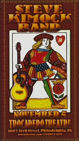 Steve Kimock Band Trocadero Theatre November 5th Handbill Poster