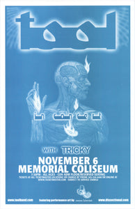 Tool Memorial Coliseum November 6th Original Poster