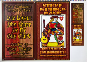 Texas Troubadours Together & Alone Steve Kimock Band Uncut Poster Proof