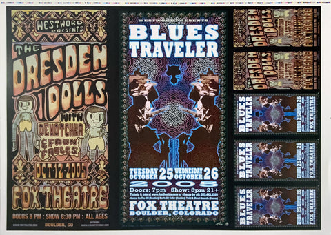 The Dresden Dolls Blues Traveler Uncut Poster Proof