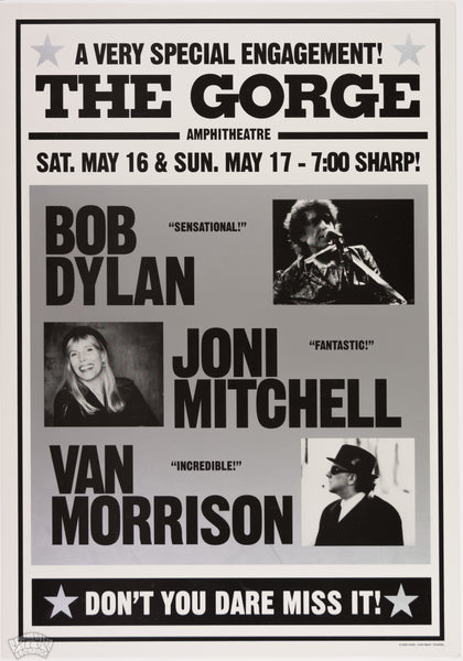 "Bob Dylan, Joni Mitchell, & Van Morrison - 1998 - Geoff Gans - ""A Very Special Engagement"""