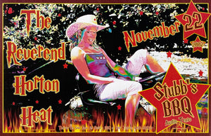 The Reverend Horton Heat 2002 Stubb's BBQ November 22nd Poster