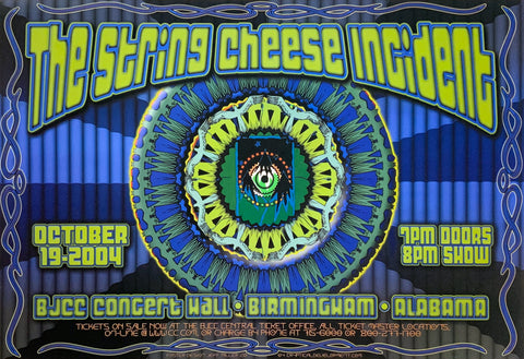 The String Cheese Incident 2004 BJCC Concert Hall October 19th Handbill Poster