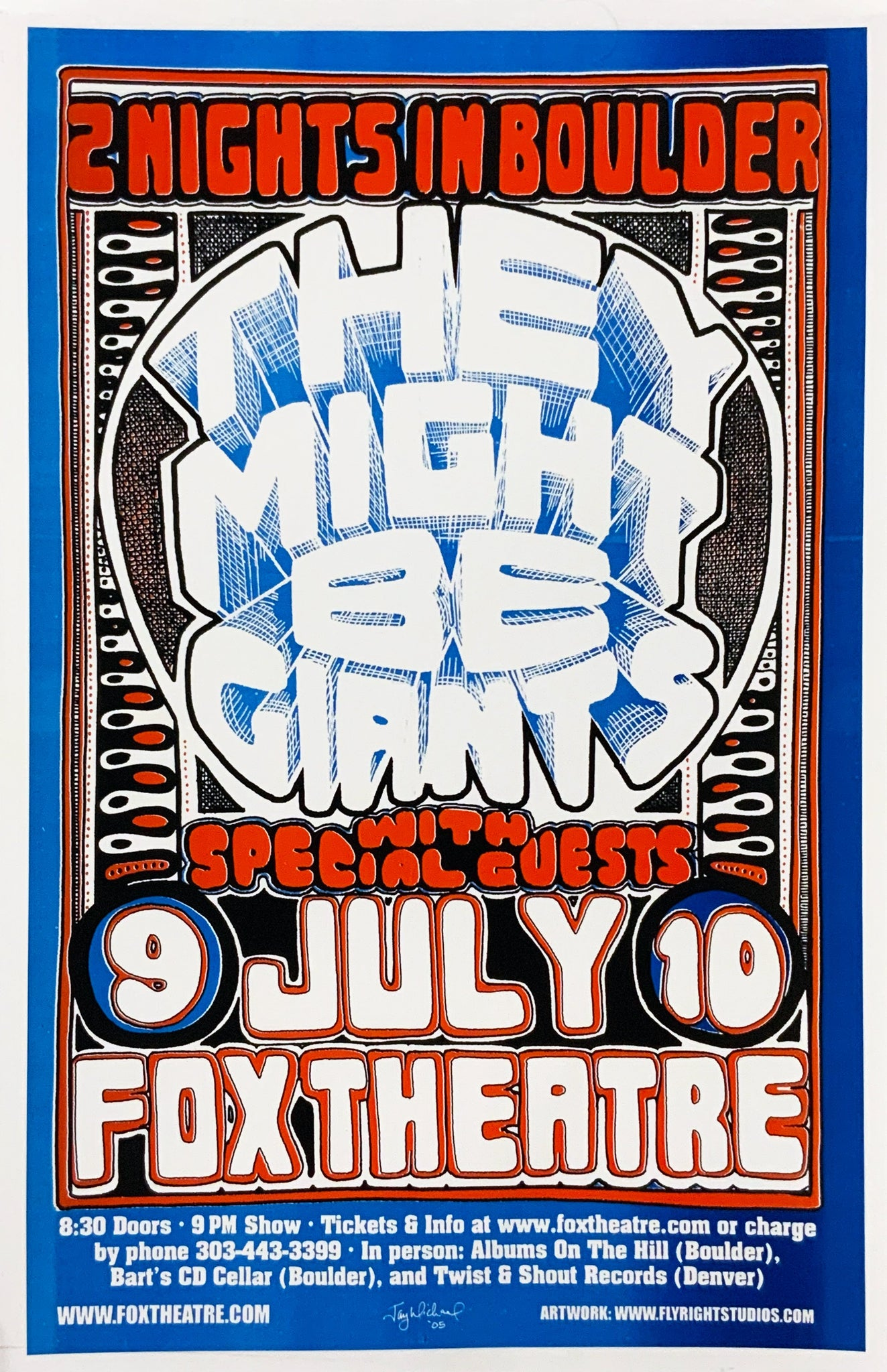 They Might Be Giants Fox Theatre July 9th Poster
