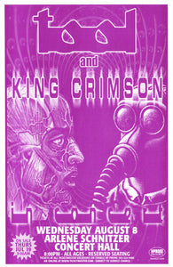 Tool With King Crimson Arlene Schnitzer Concert Hall August 8th Original Concert Poster