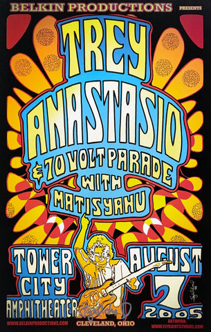 Trey Anastasio 2005 Tower City Amphitheater August 7th Signed Poster