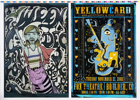 Ween Yellowcard Uncut Poster Proof