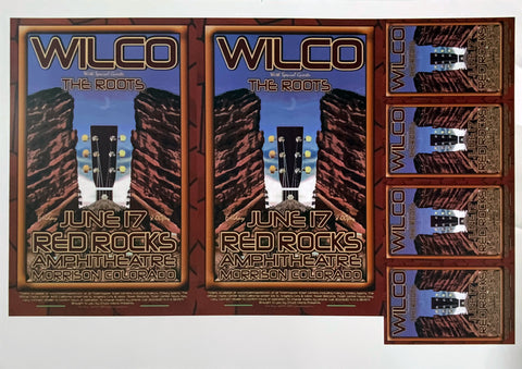 Wilco with The Roots Red Rocks Amphitheatre June 17th Uncut Poster Proof