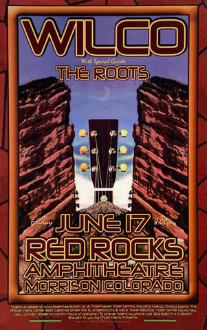 Wilco with The Roots Red Rocks Amphitheatre June 17th Handbill Poster