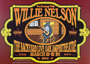 Willie Nelson 2004 The Backyard Live Oak Amphitheatre March 19th Poster