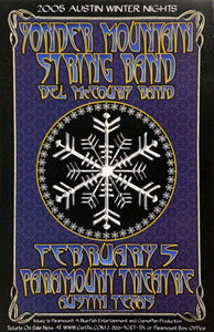 Yonder Mountain String Band 2005 Paramount Theatre February 5th Poster
