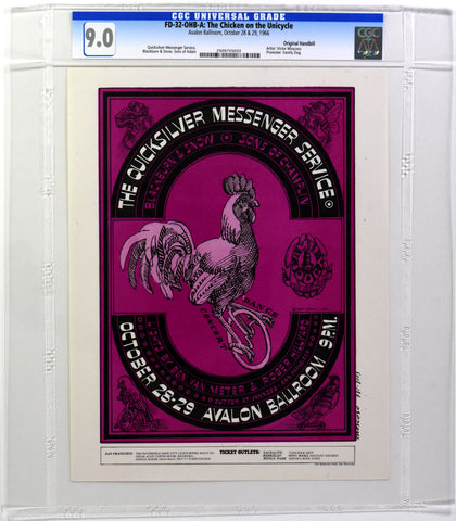 FD-32 : OHB-A : CGC 9.0 : THE CHICKEN ON THE UNICYCLE : QUICKSILVER MESSENGER SERVICE : AVALON BALLROOM : 1966