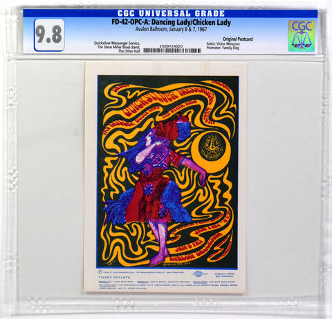 FD-42 : OPC-A : CGC 9.8 : DANCING LADY/CHICKEN LADY : QUICKSILVER MESSENGER SERVICE : AVALON BALLROOM : 1967