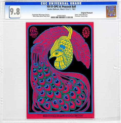 FD-51 : OPC-A : CGC 9.8 : PEACOCK BALL : QUICKSILVER MESSENGER SERVICE : AVALON BALLROOM : 1967
